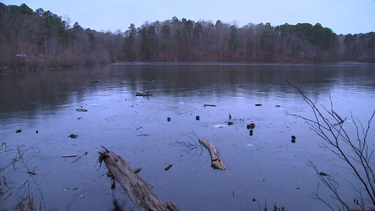 Lake Johnston freezes over