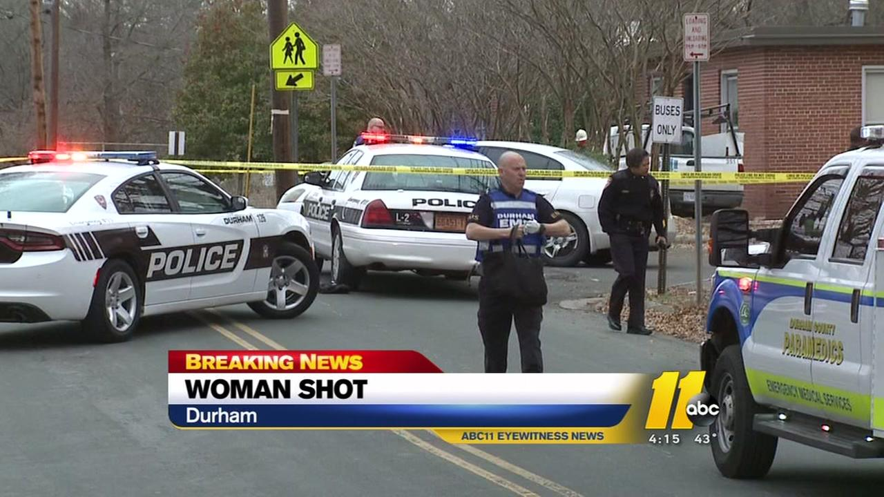 Woman shot in face in Durham