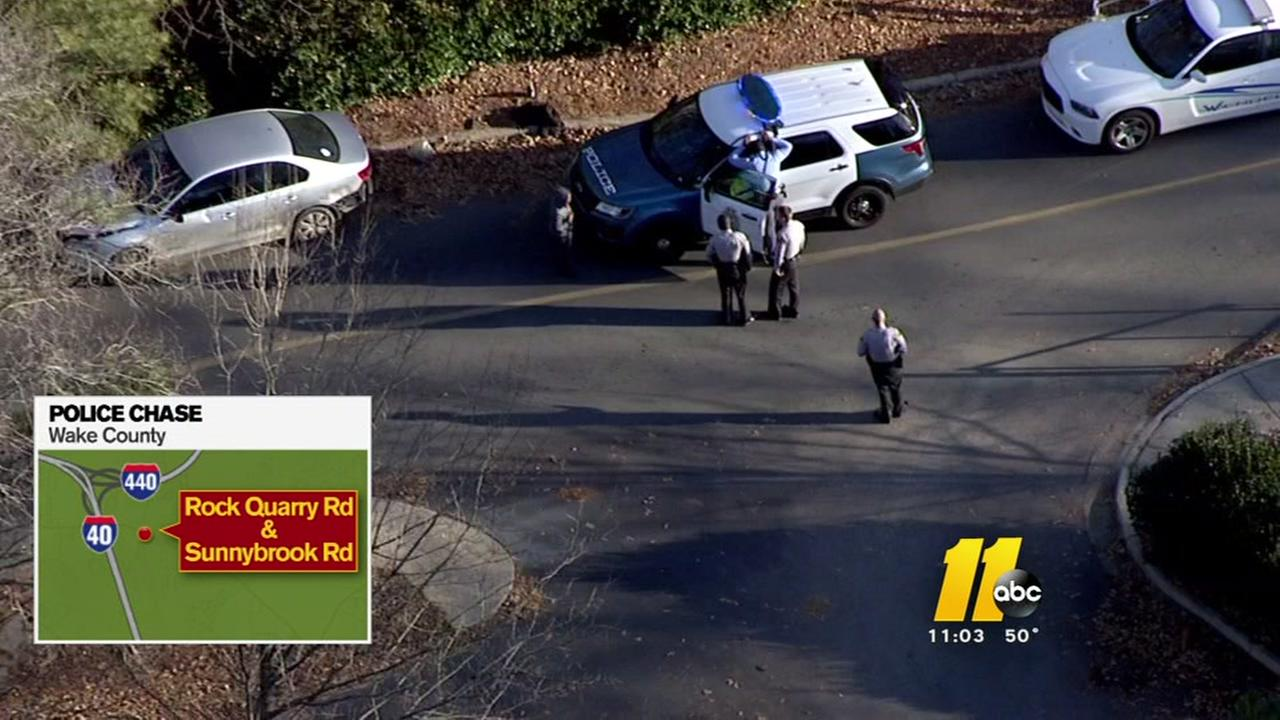 Man faces charges after police chase