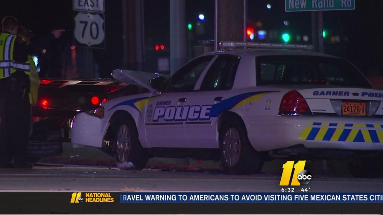 Driver injured in crash involving Garner police officer