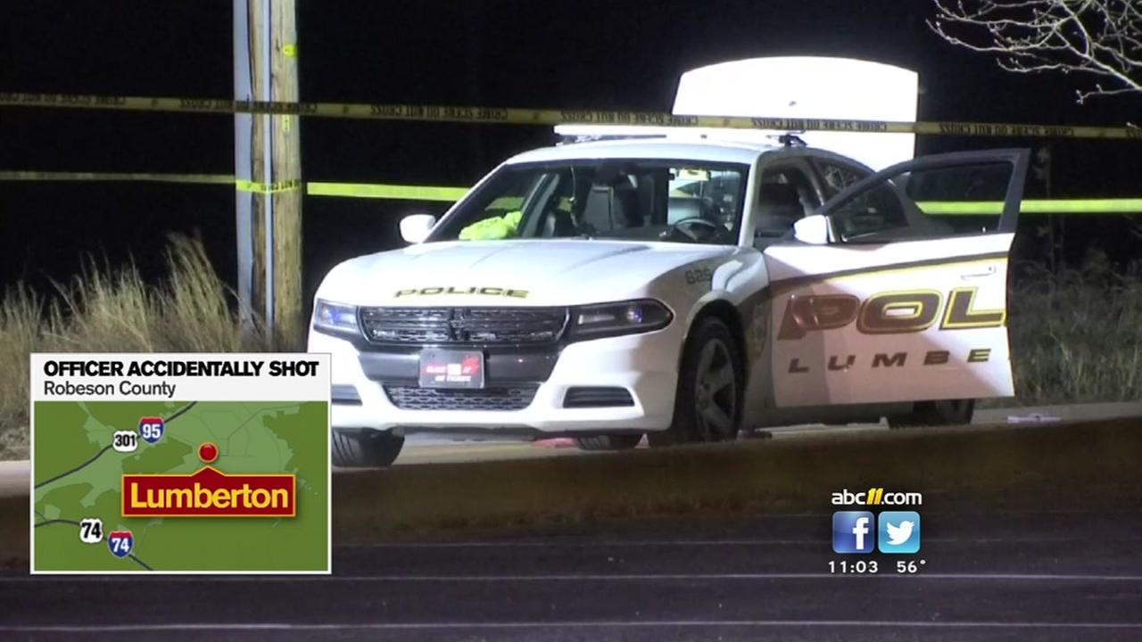 Lumberton officer accidentally shot