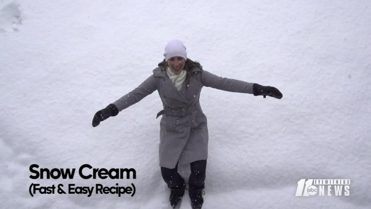 How to make snow cream