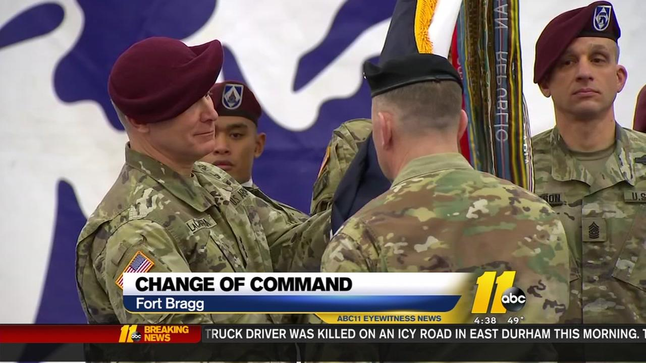 Change of command at Fort Bragg
