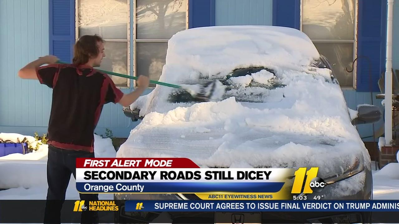 Clear the snow off your cars before you drive!