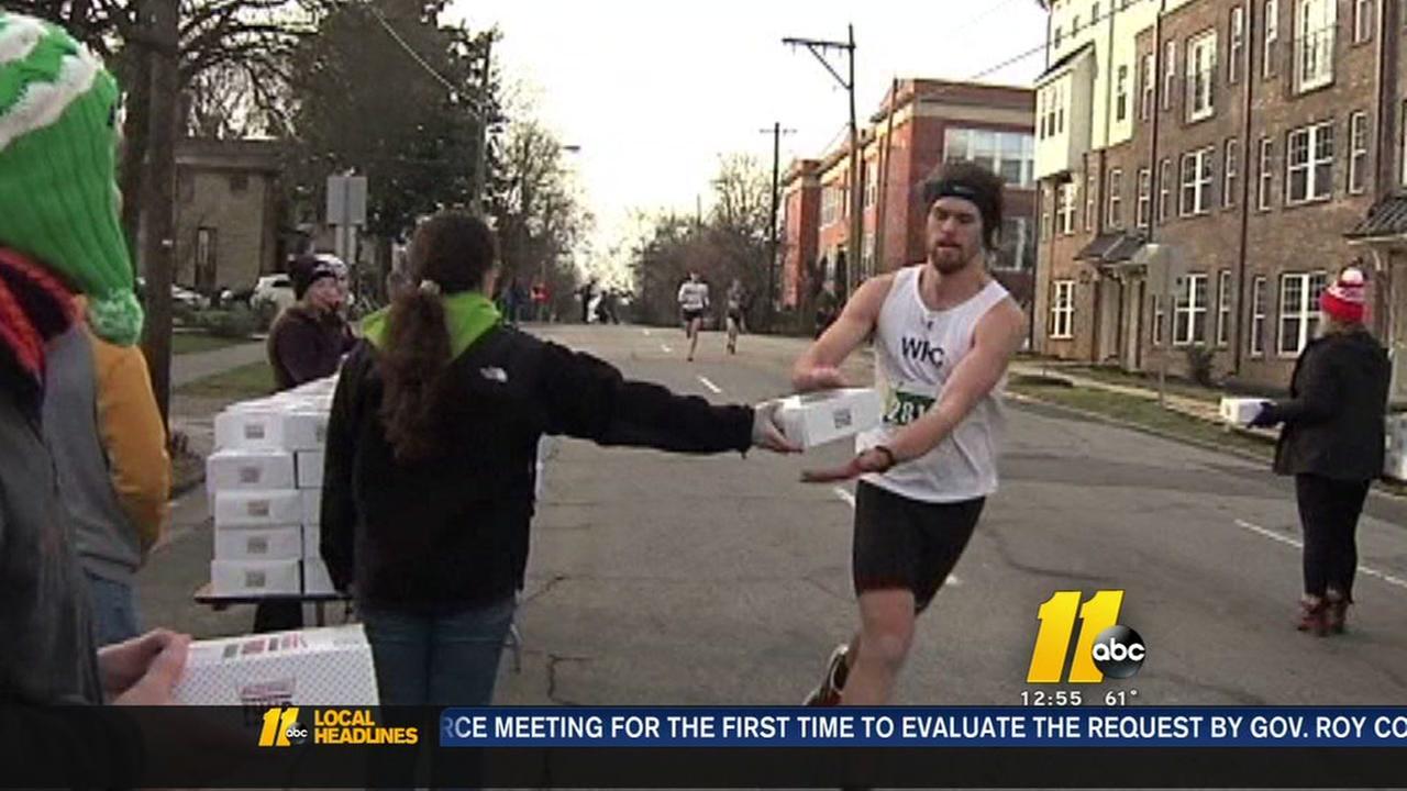 Krispy Kreme race challenges running and eating skills