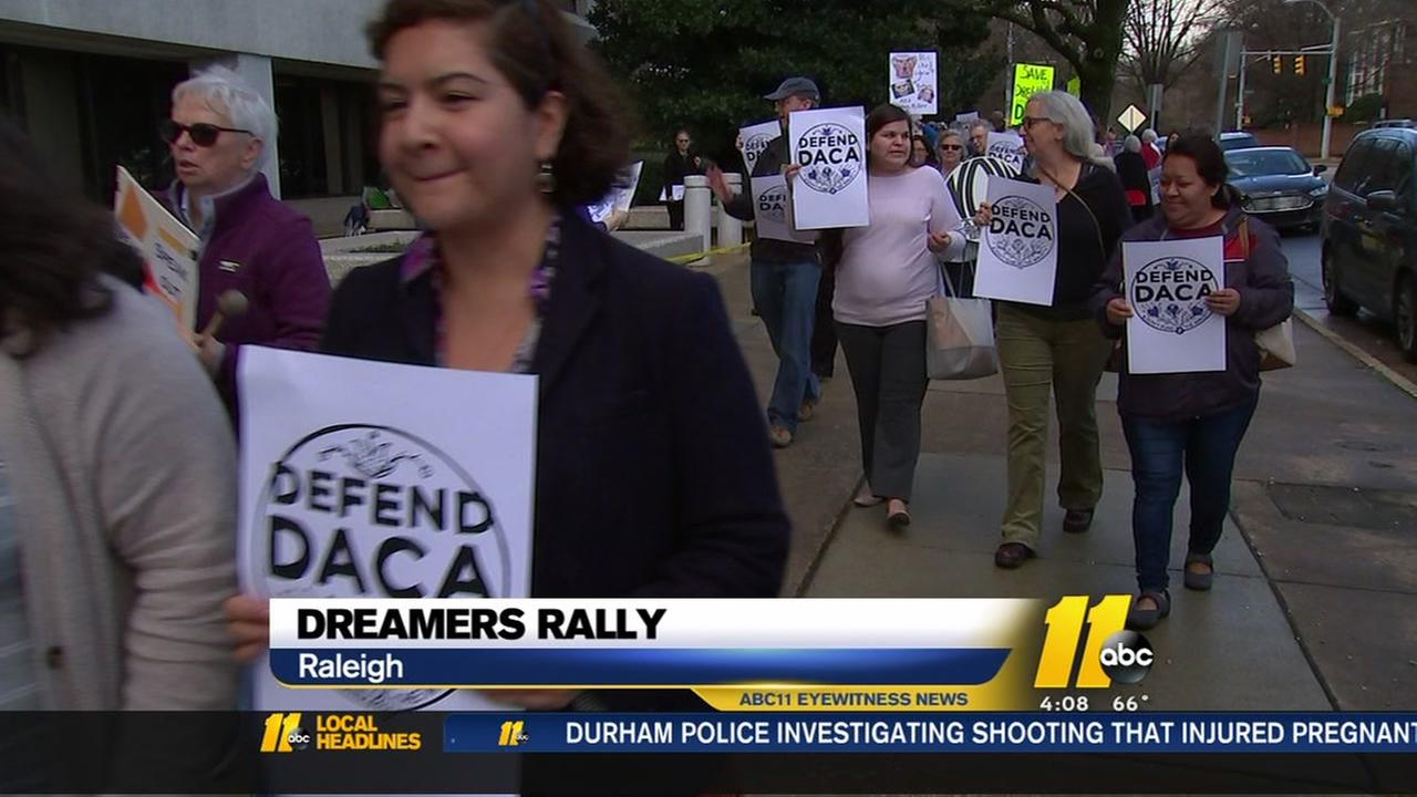 DACA supporters rally in Raleigh