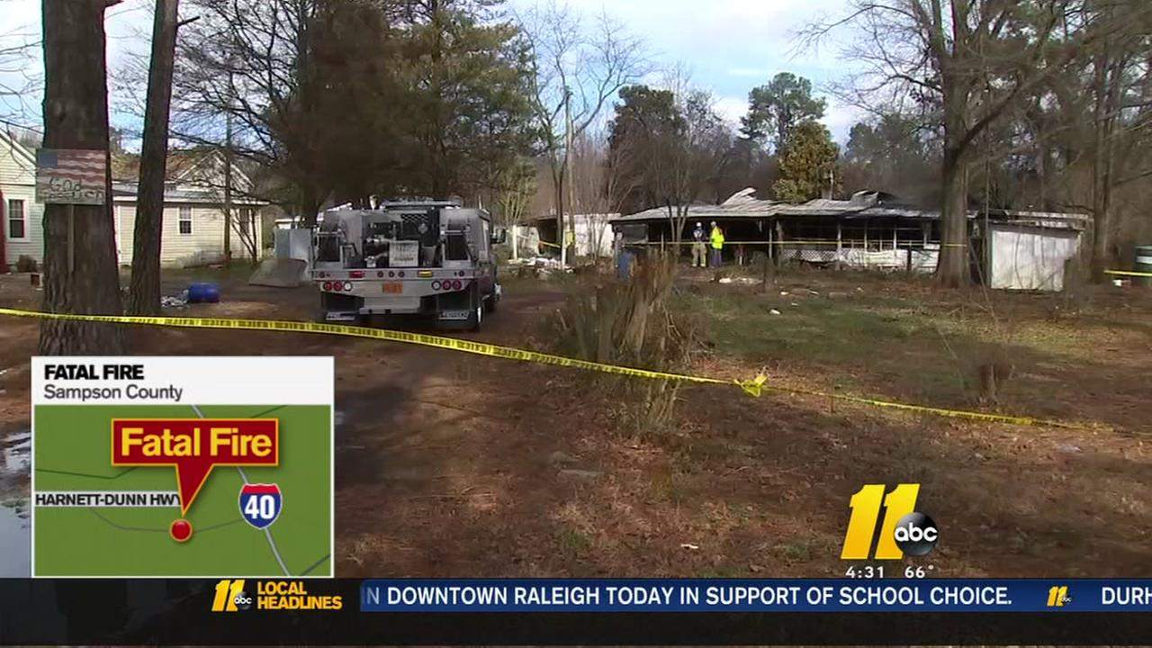 Sampson County man dies in house fire
