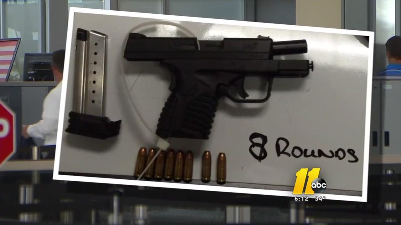 Guns being found more often at airports