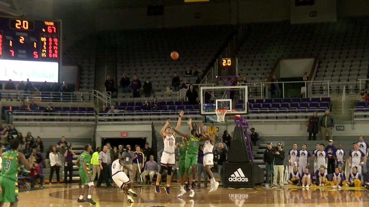 ECUs BJ Tyson hits the shot of the year