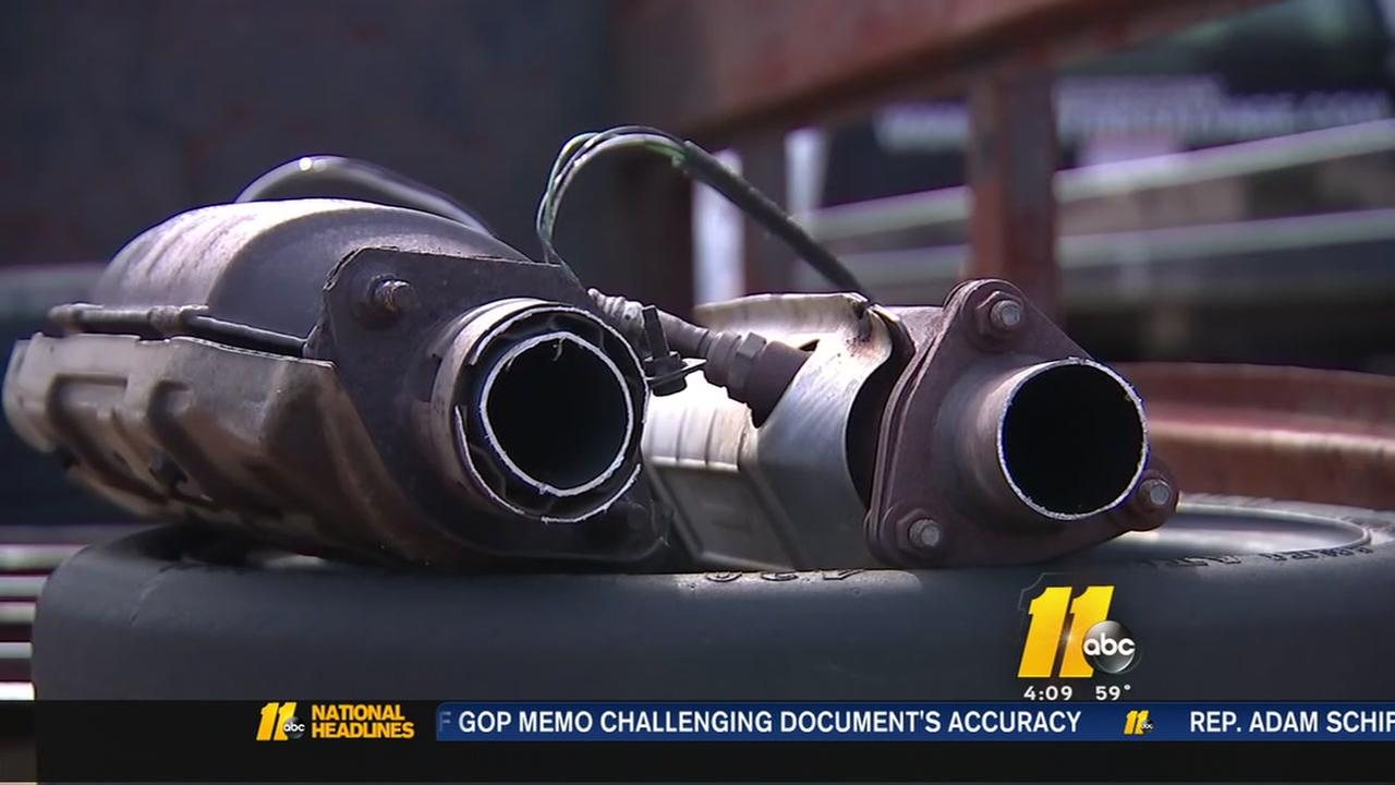Catalytic-converter thefts rising in Raleigh