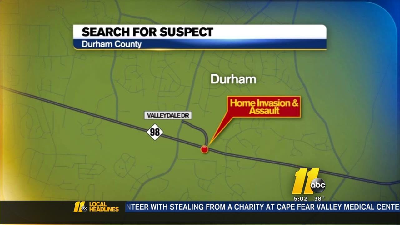 Search for Durham home invasion suspect
