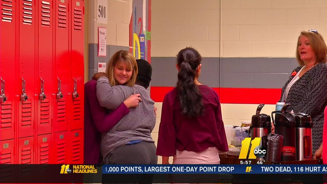 Special needs students serve up coffee