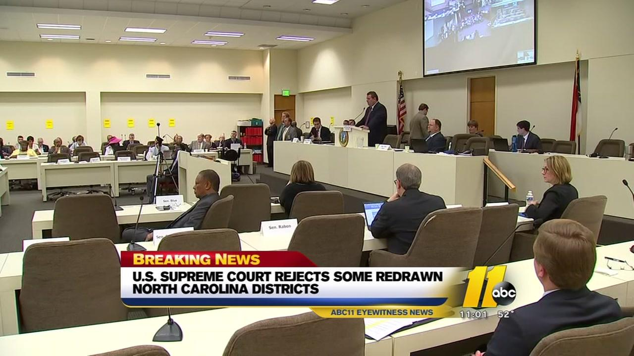 US Supreme Court rejects some redrawn NC districts