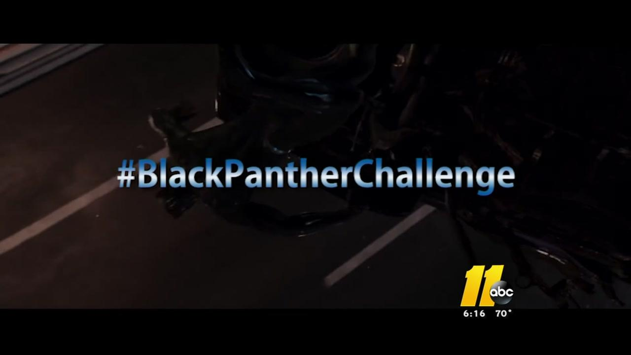 #BlackPantherChallenge makes its way to Raleigh