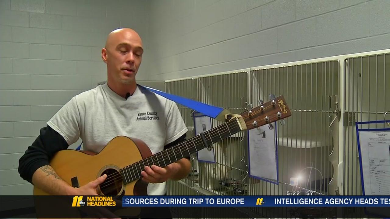 Vance County volunteer serenades the dogs