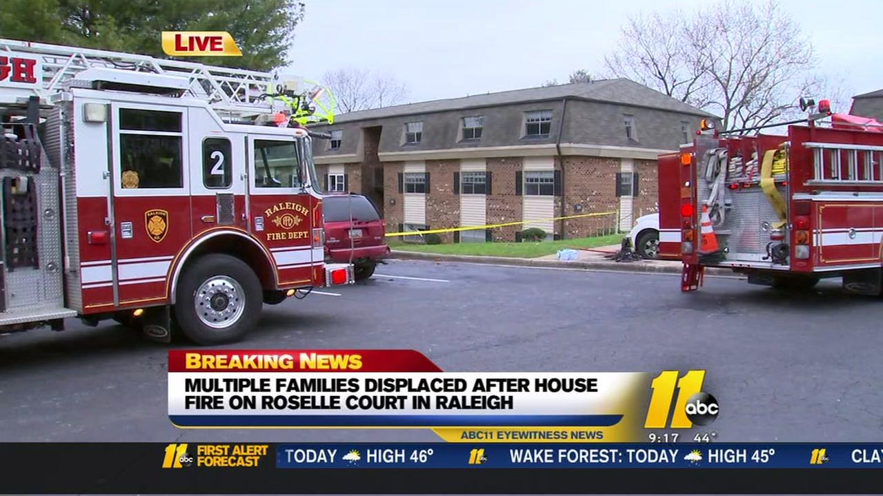 Multiple families displaced after Raleigh apartment fire