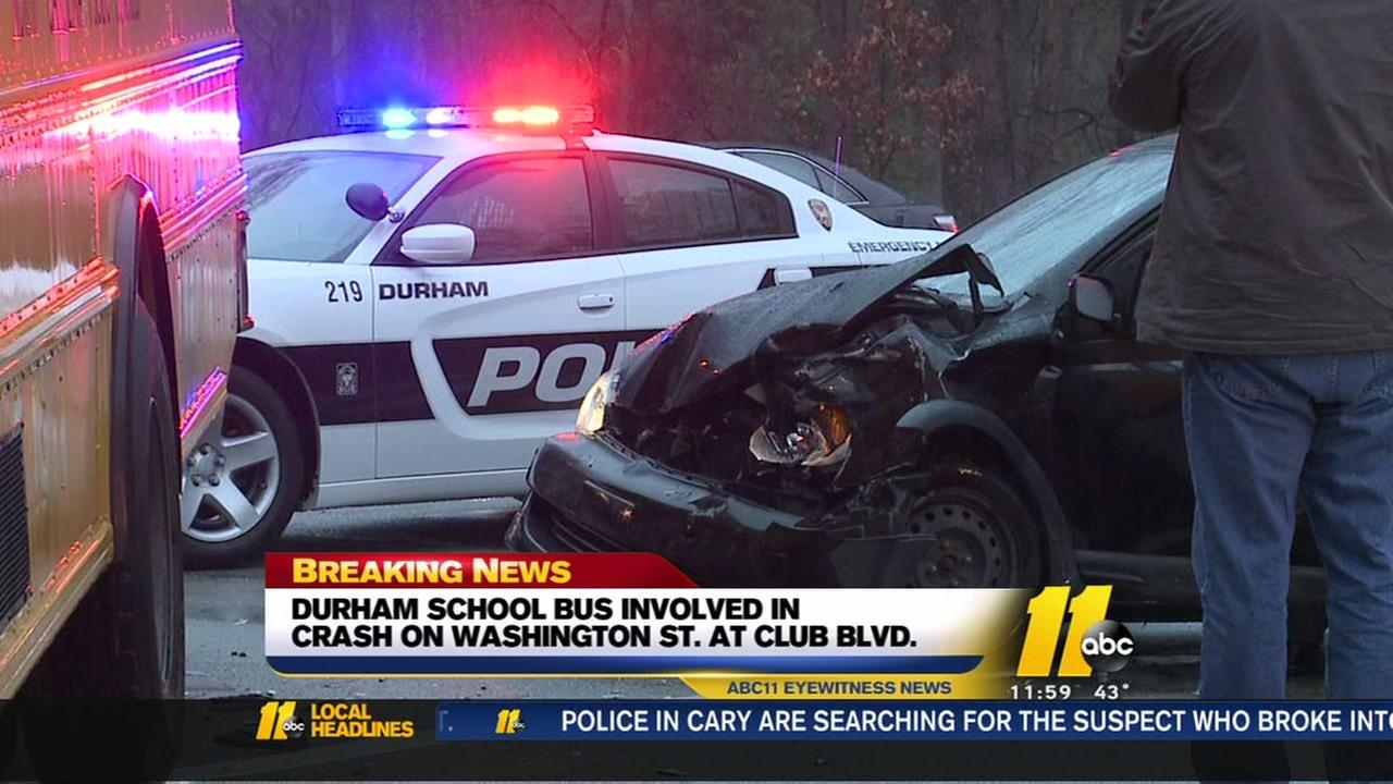 Durham school bus carrying children involved in multi-vehicle crash