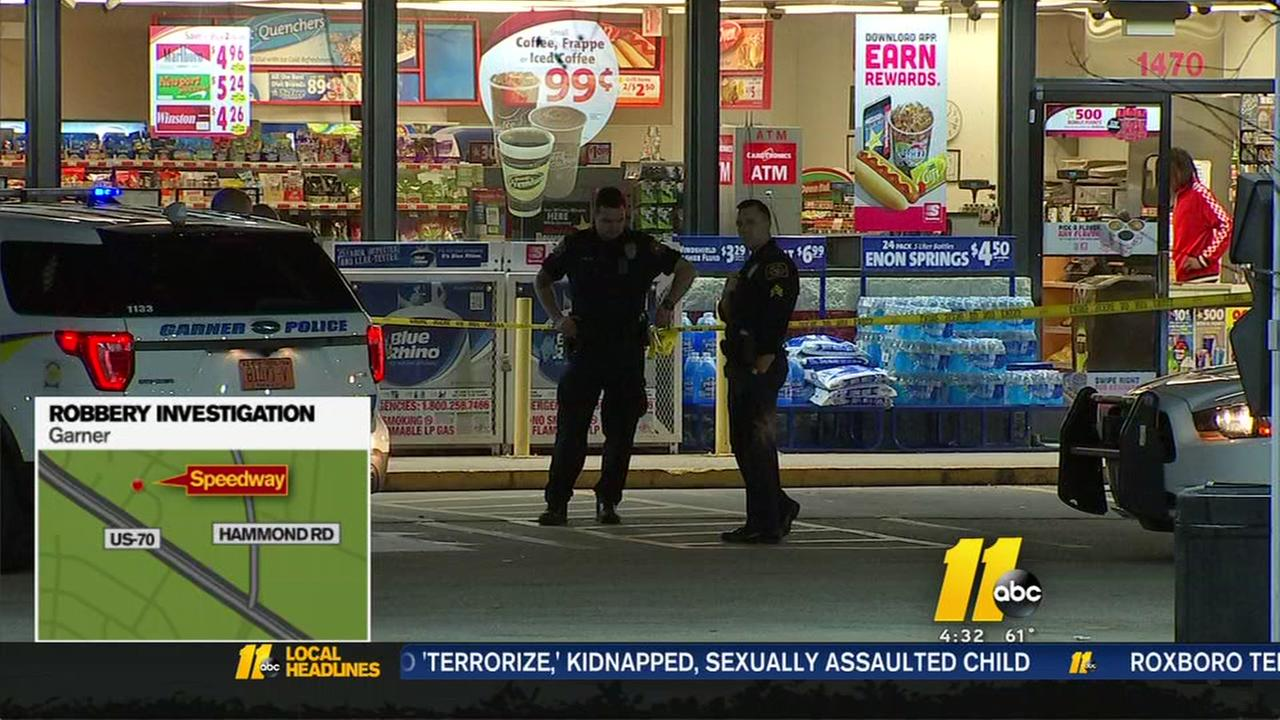 Garner police investigating armed robbery at Speedway