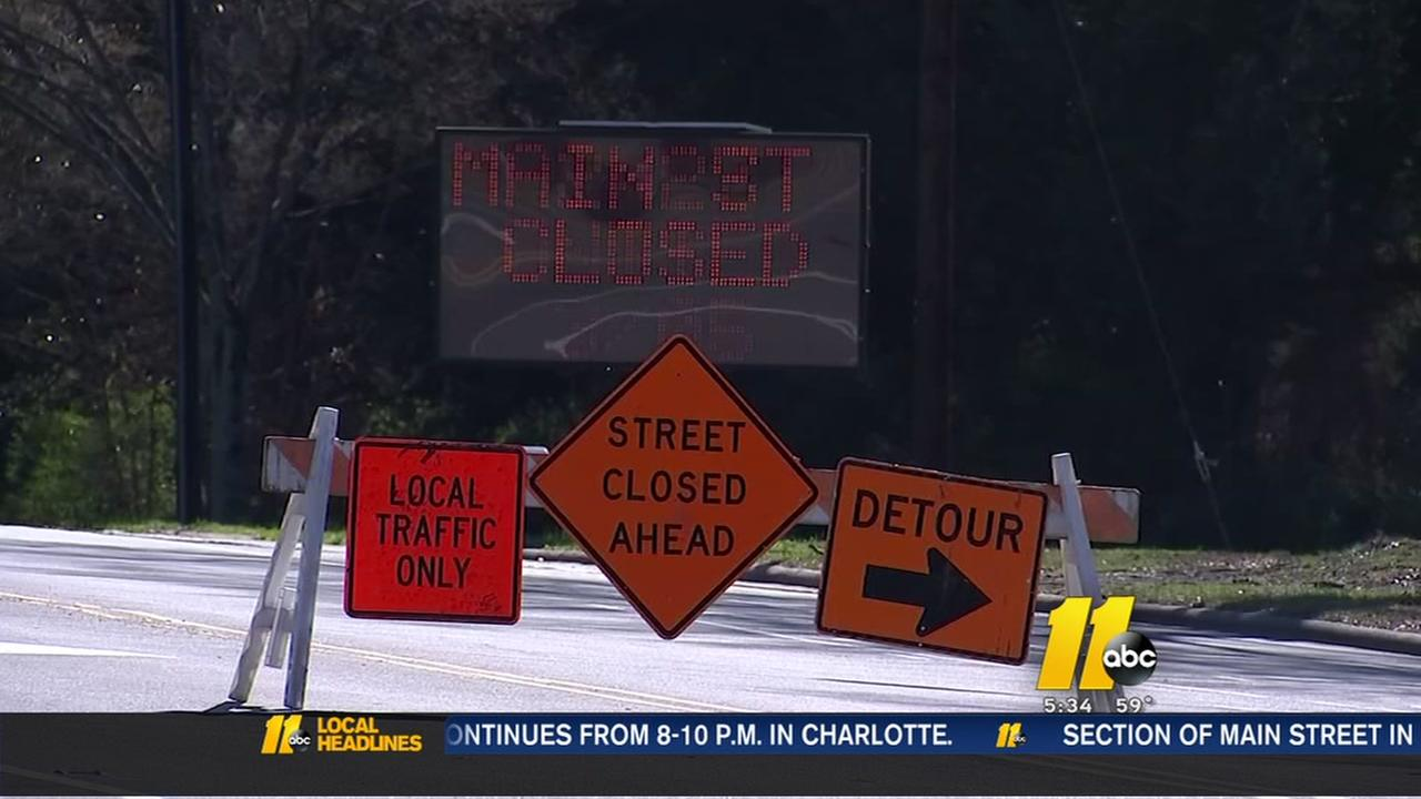 W. Main St in Durham to be closed