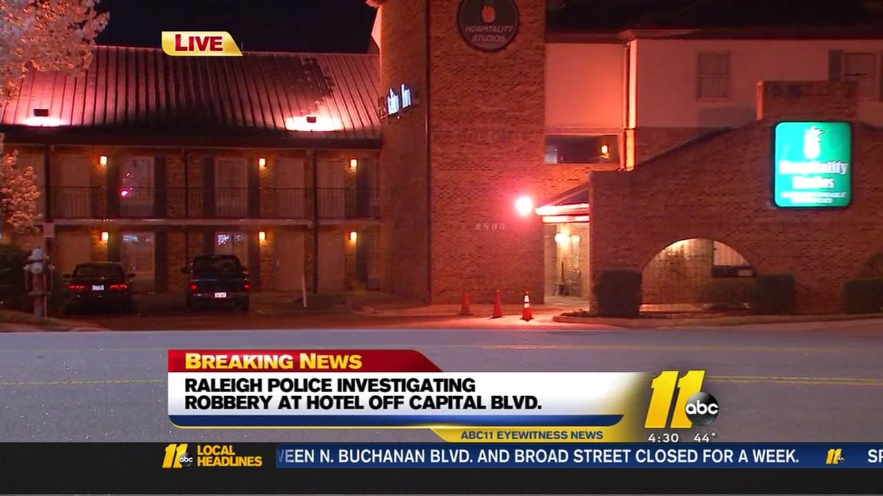 Guest robbed outside Hospitality Studios hotel, Raleigh police say