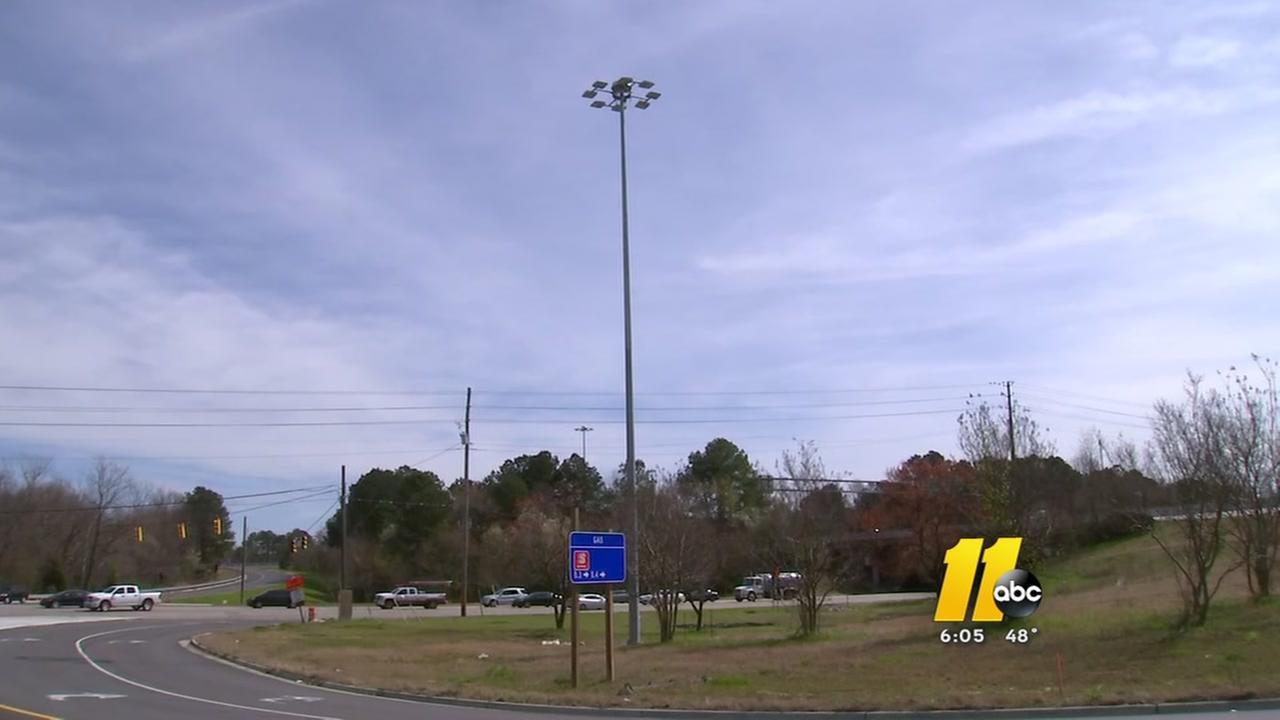 Light poles go up along 440