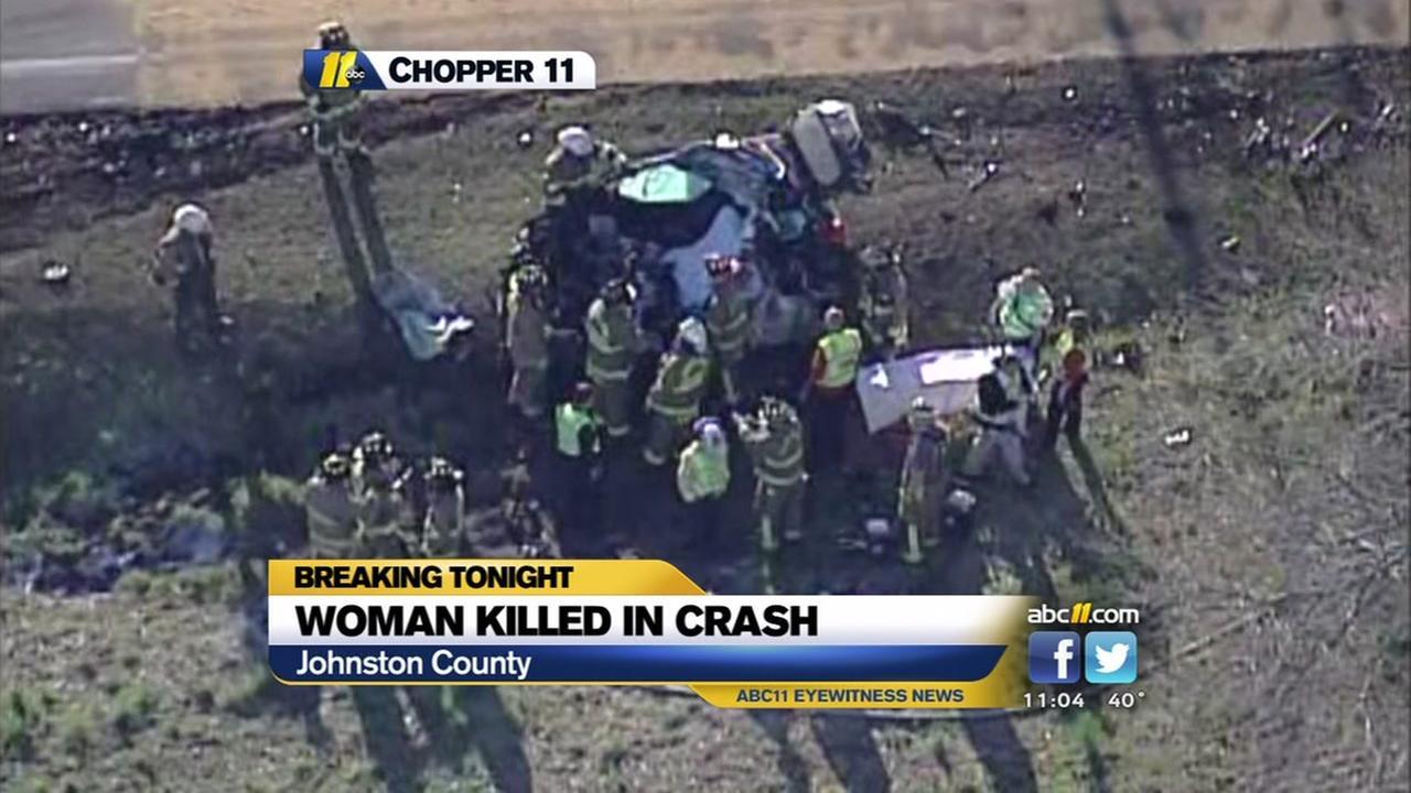 Woman killed in crash near Four Oaks