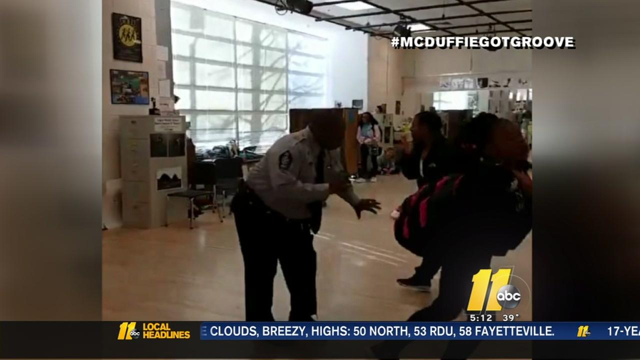 Raleigh school resource officers busts a move