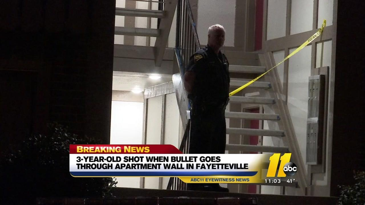 Child hit by stray bullet in Fayetteville
