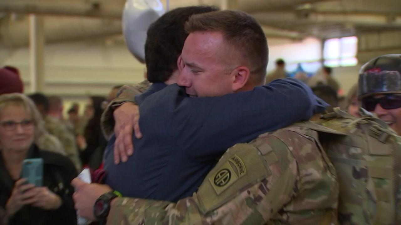 Troops return home after nine months in Afghanistan
