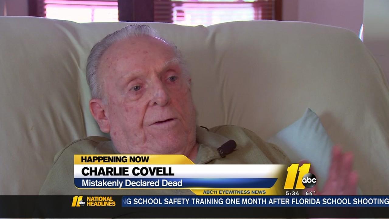 Veteran mistakenly declared dead