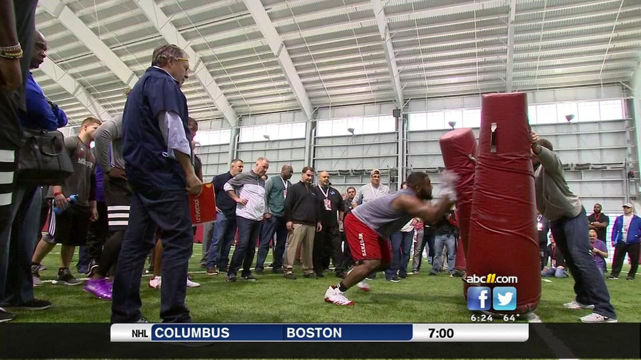 Bill Belichick was on hand for NC States pro day