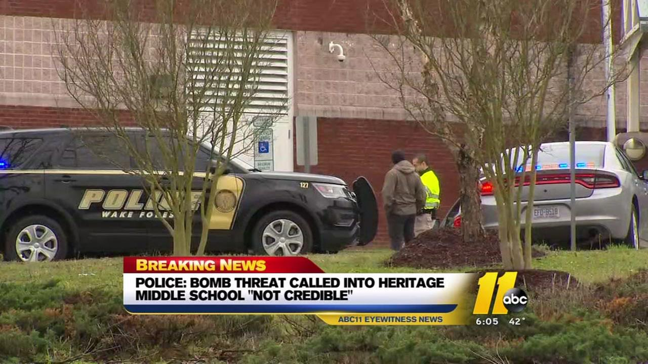 Bomb threat at Heritage Middle School