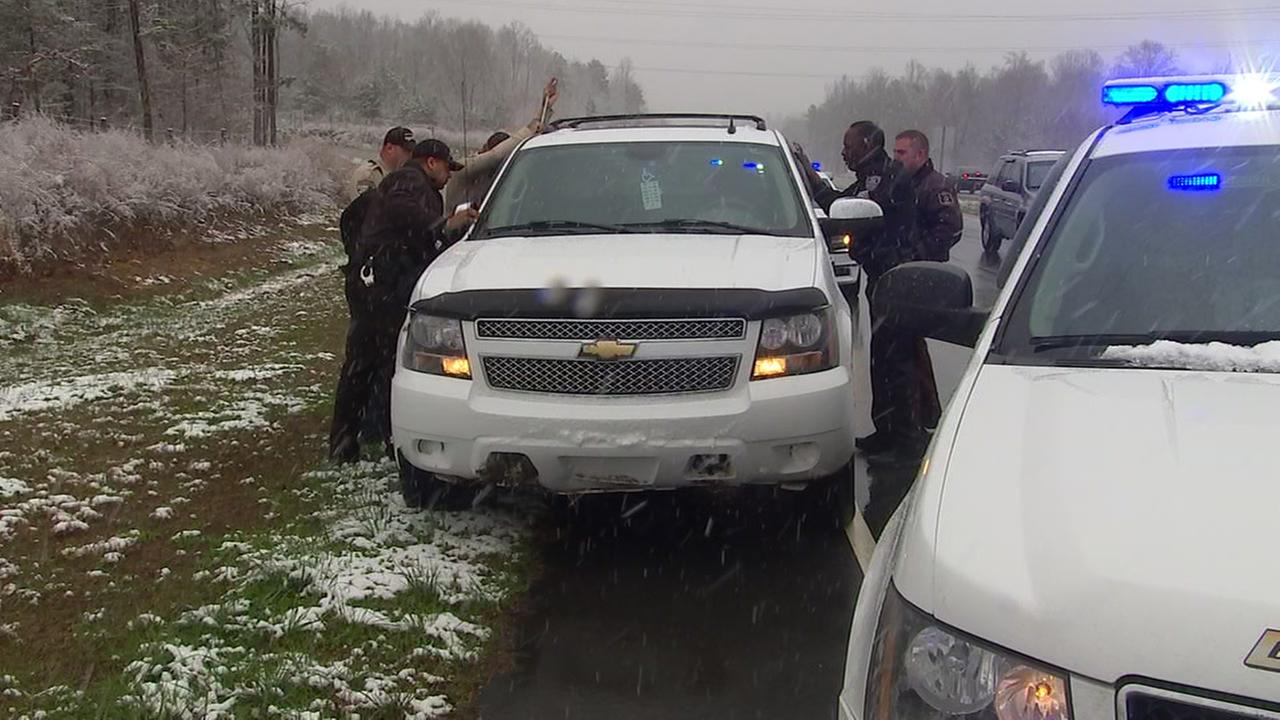 During Wednesdays snowfall, Person County deputies and Roxboro police stepped in to help a driver having a medical emergency.