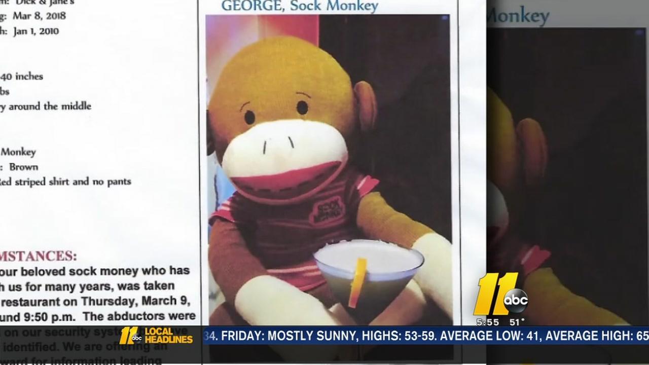 Help find George! Sock monkey stolen