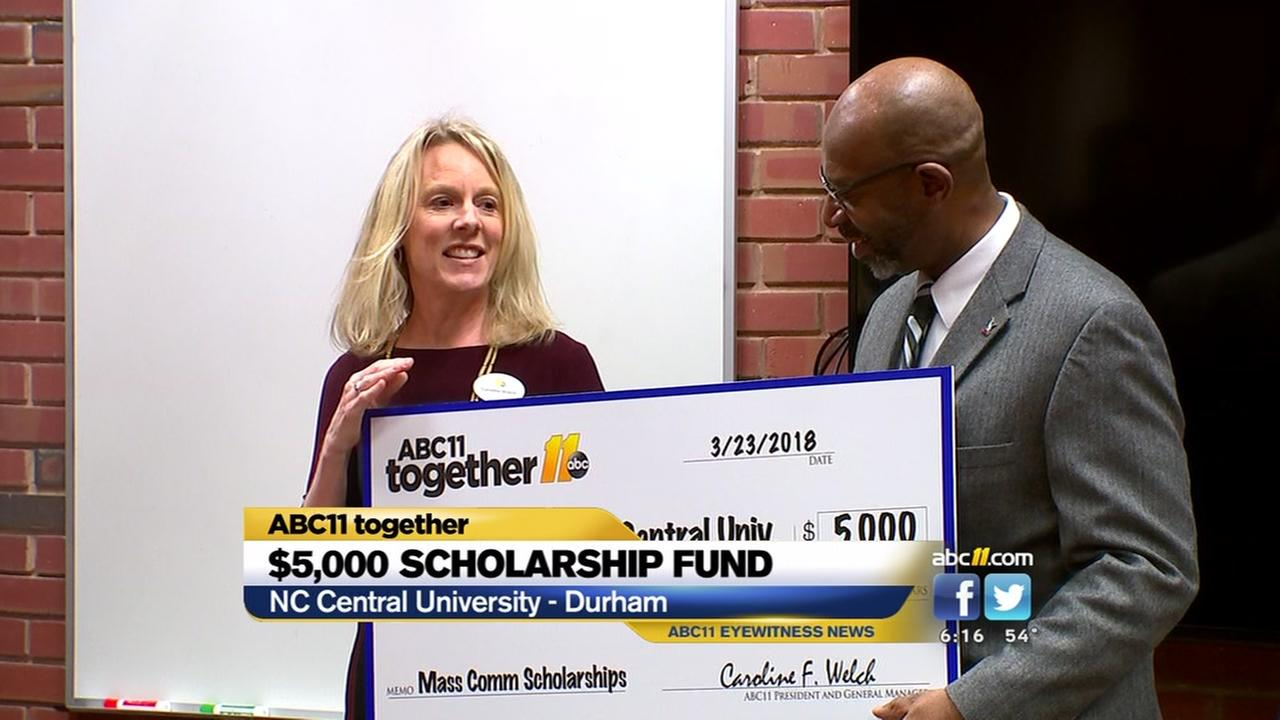 ABC11 Together presents scholarship fund to NCCU