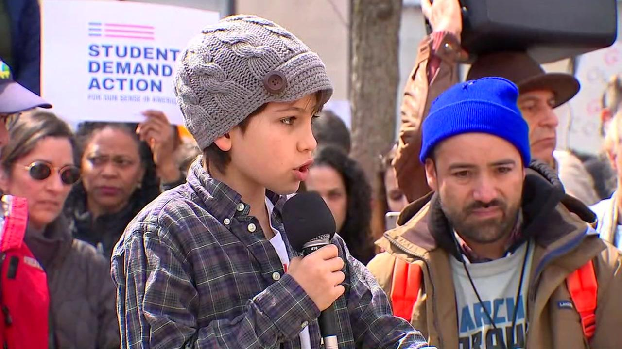 Fifth-graders impassioned speech at rally