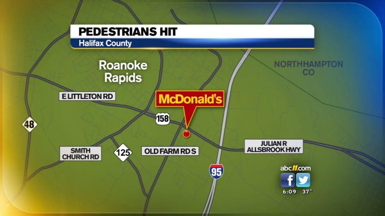 5 people struck by car in Roanoke Rapids