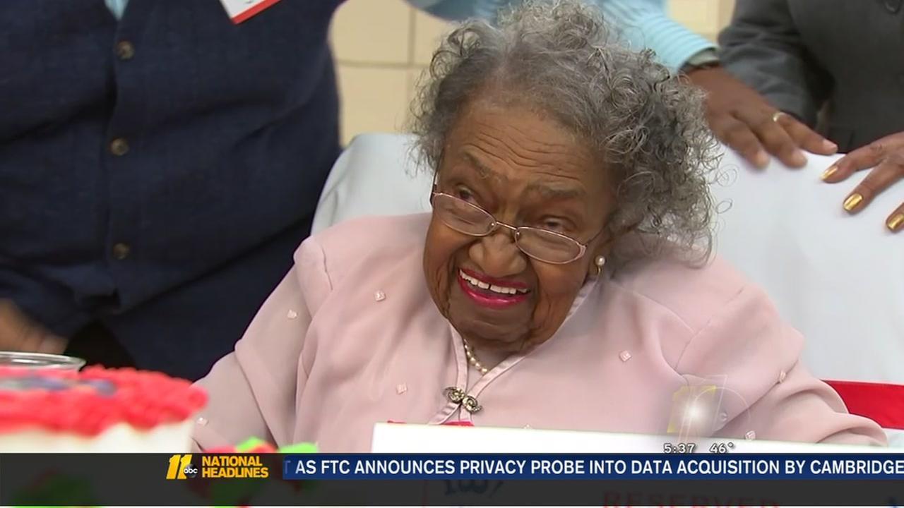 Durham exercise enthusiast celebrates 100th birthday