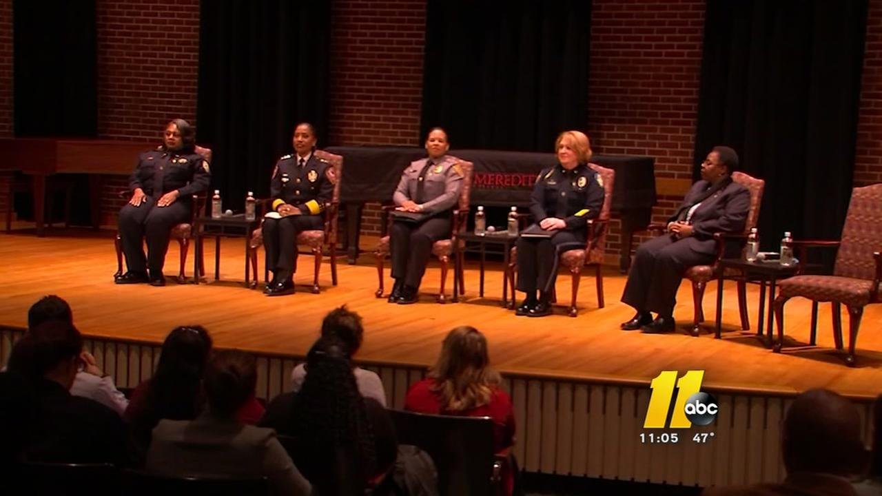 Female police chiefs inspire students at Meredith College