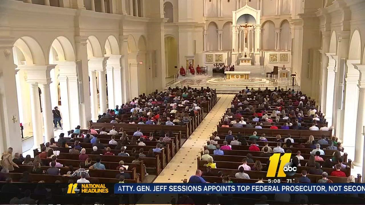 First Easter weekend at new Raleigh cathedral