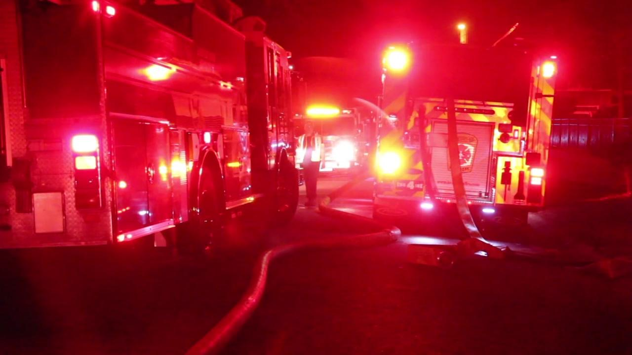 Raw video from scene of Fayetteville apartment fire