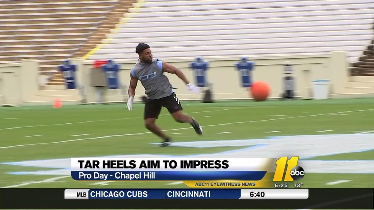 Tar Heels aim to impress at Pro Day