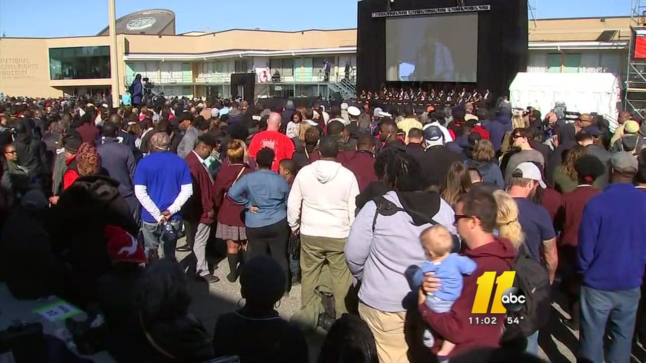 Thousands gather in Memphis for MLK50