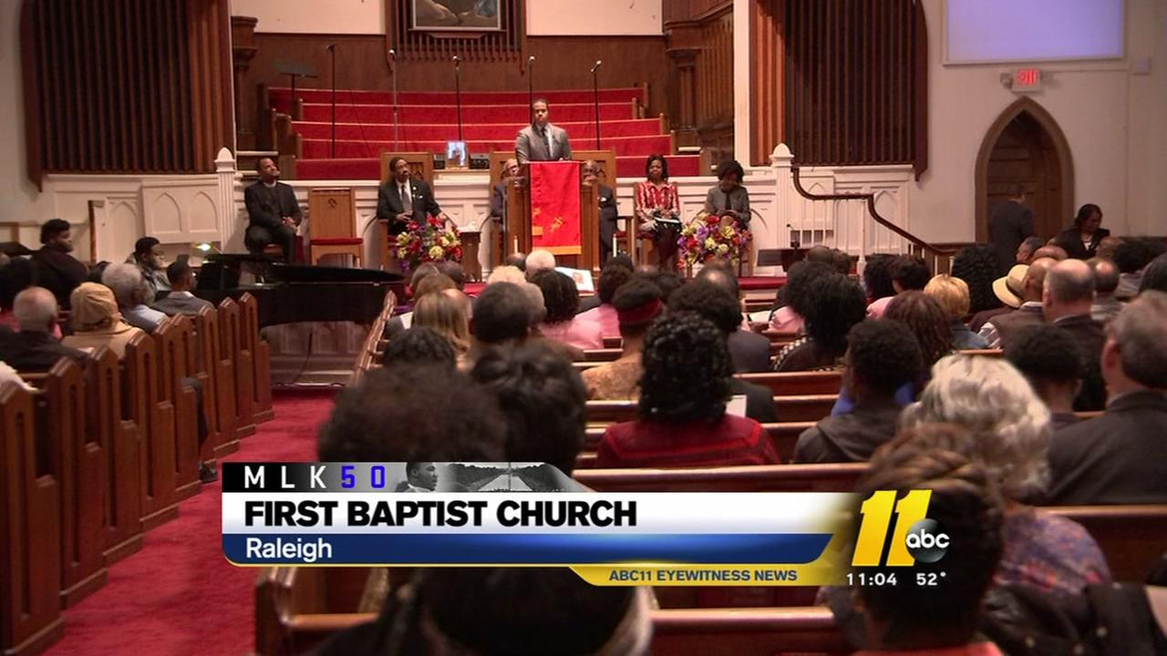 Service at Raleigh church celebrates Kings legacy