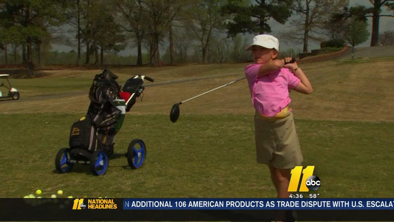 8 year olf golf prodigy
