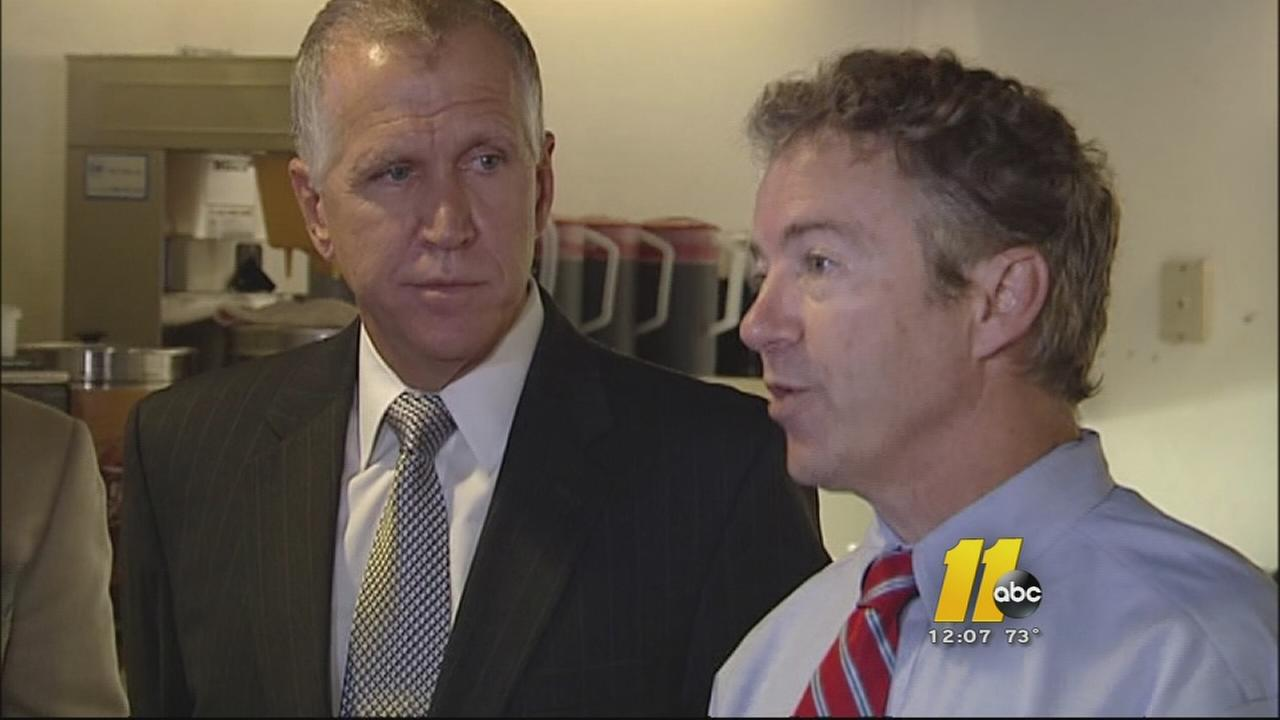 Kentucky Senator Rand Paul and Republican Senate candidate Thom Tillis.