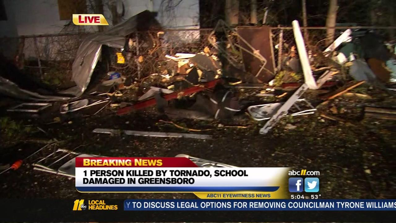 One dead after tornado hits Guilford County