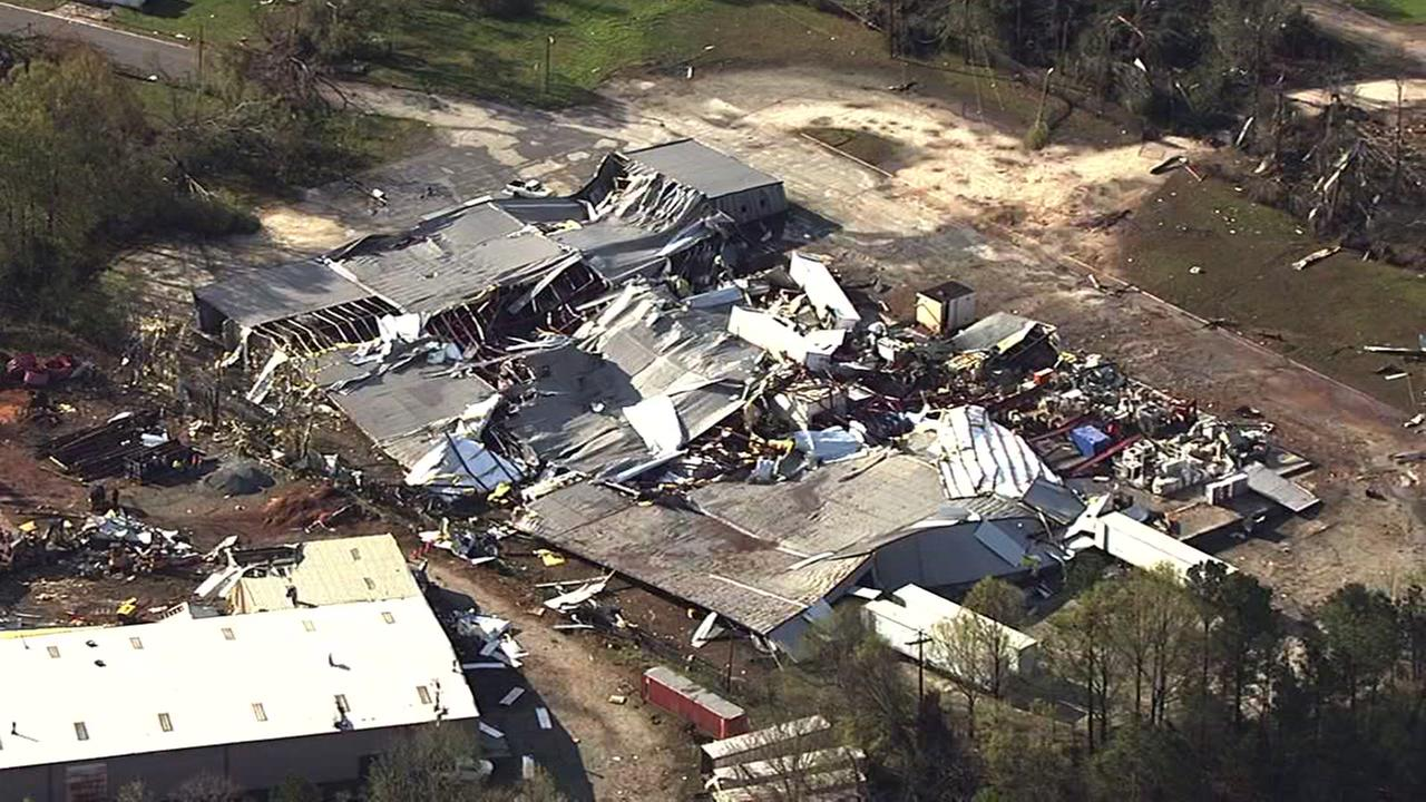 Chopper 11 over damage in Greensboro after tornado
