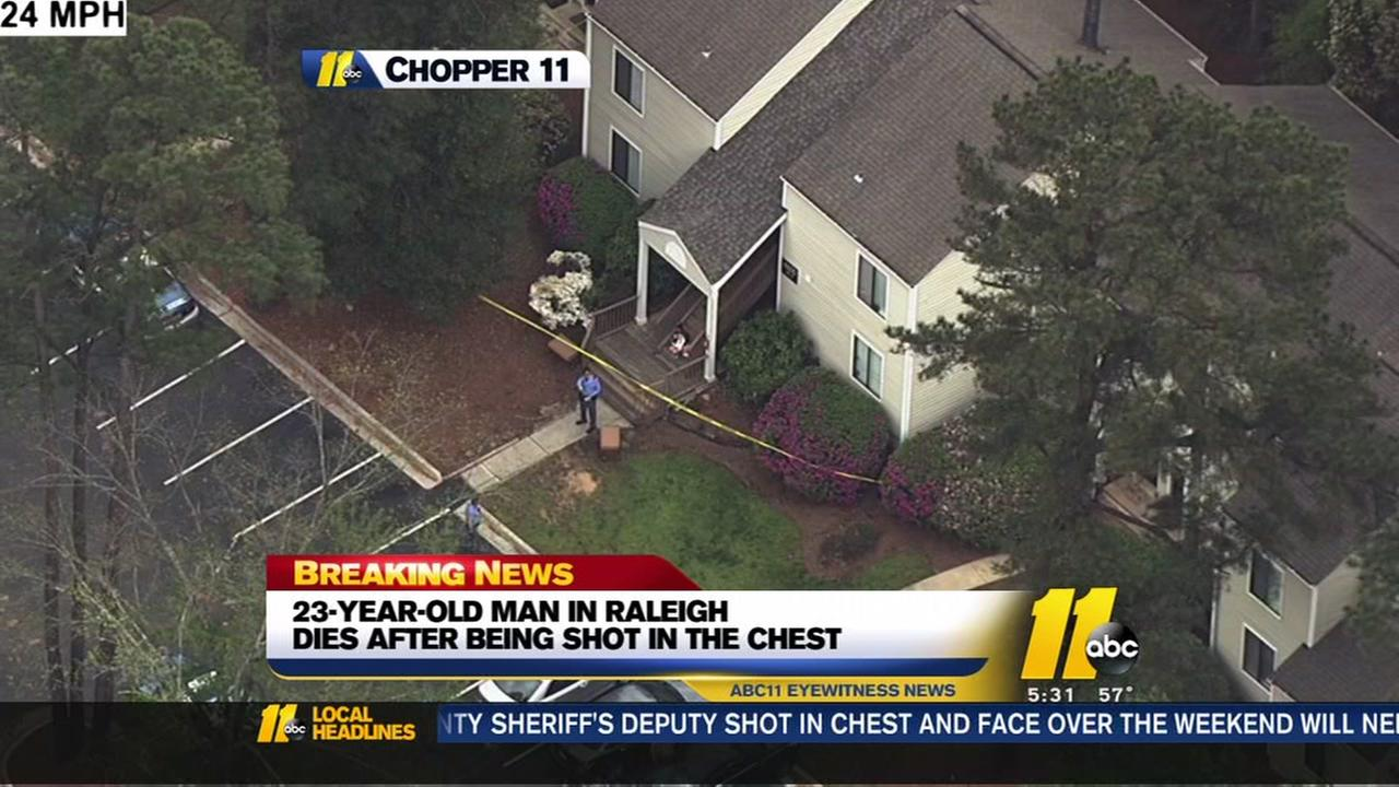 Raleigh man dies after shot to the chest