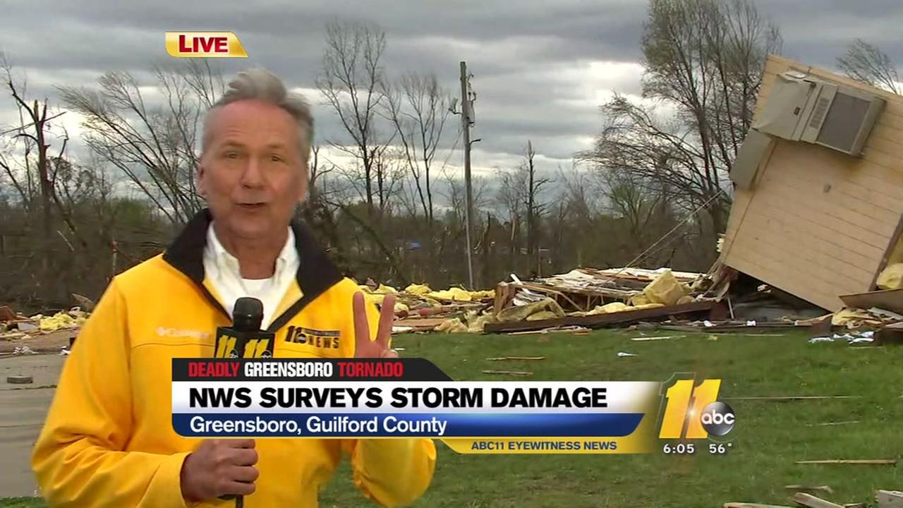 Hohmann: NWS surveying storm damage in Guilford County